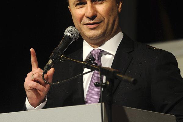 Macedónsky premiér Nikola Gruevski.