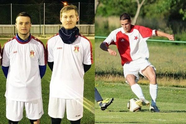 Lukáš Garaj a Matej Špánik budú hrať za Patu. Michal Gottwald (vpravo) je jednou z nových tvárí vo Váhovciach.