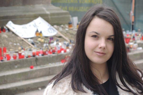 Organizátorka protestu v Trenčíne Klaudia Brázdilová.