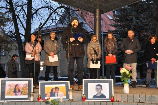 Protestné zhromaždenie v Ružomberku.