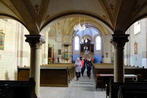 Interiér chrámu, ktorý je aj súčasťou projektu Kostoly Slovenska.