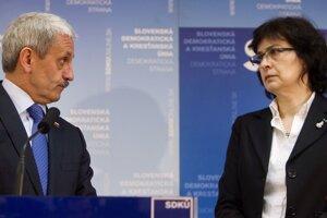 11. marec 2012. Predseda SDKÚ Mikuláš Dzurinda  a podpredsedníčka Lucia Žitňanská.