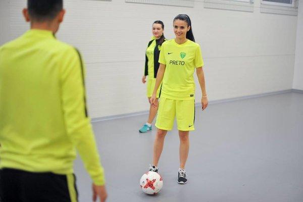 Mária Čierna v rámci klubového semifinále absolvovala tréning s futbalistami MŠK.