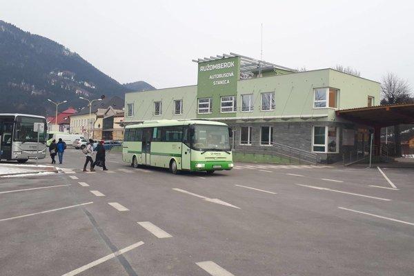 Autobusová stanica v Ružomberku.