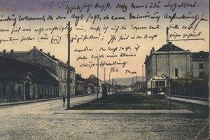 Dnešná Kuzmányho ulica.