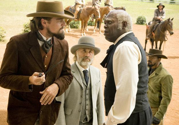 V snímke Divoký Django (2012) s Leonardom DiCapriom a Christophom Waltzom.
