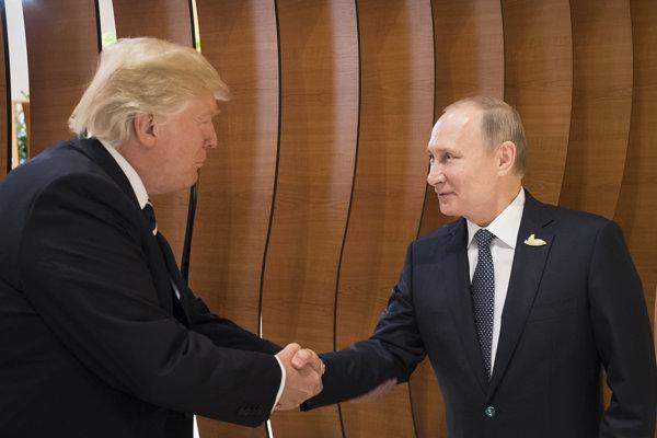 Donald Trump a Vladimir Putin.