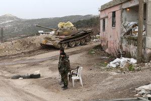 Sýrske jednotky pri meste Salma.