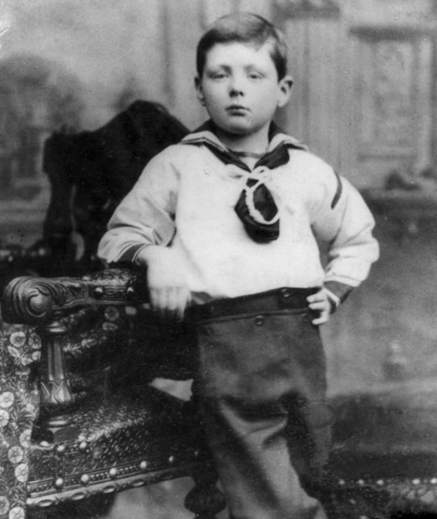 Sedemročný Winston Leonard Spencer-Churchill.