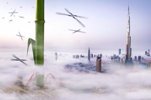 Návrh OrganiCity je v Dubaji, pretože ponúka vhodné poveternostné podmienky na pestovanie.