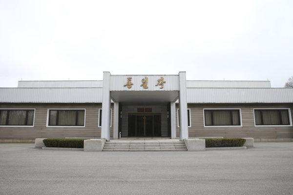 Plánované miesto summitu Severnej a Južnej Kórei v dedine Pchanmundžom v demilitarizovanej zóne na území KĽDR.