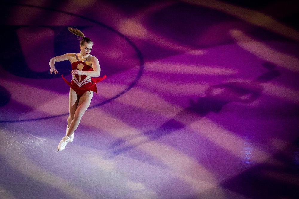 Nicole Rajičová počas exhibície.