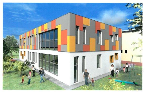 Vizualizácia novej materskej školy.