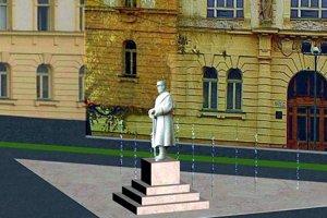 Vizualizácia sochy od Tomašeka.