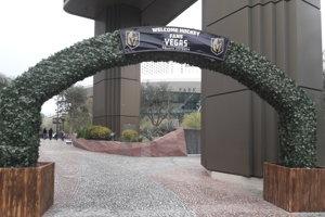 Vstupná brána do fanúšikovskej zóny Vegas Golden Knights.