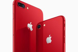 Červené prevedenie iPhone 8 a iPhone 8 Plus.