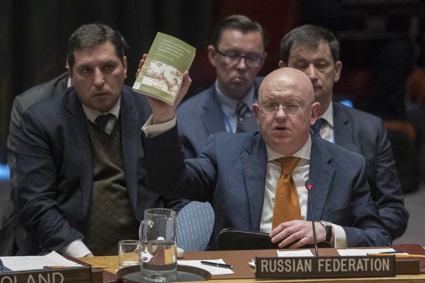 Ruský veľvyslanec pri OSN Vasilij Nebenzia.