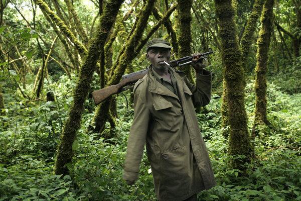 Strážca parku Virunga.