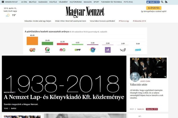 Informácie o zániku média na ich webstránke.