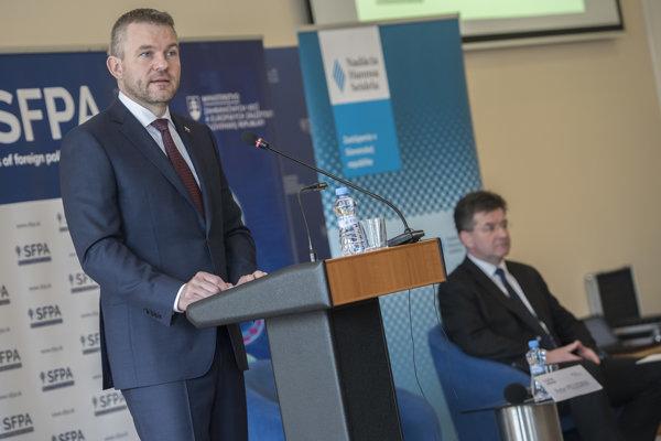Peter Pellegrini a Miroslav Lajčák.