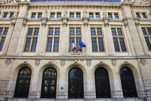 Hlavná budova univerzity Sorbonne.