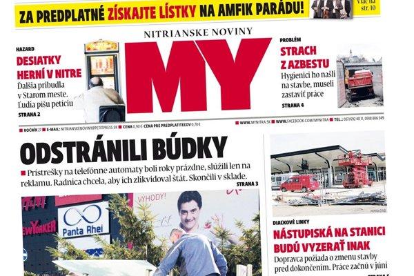 Nové číslo MY Nitrianskych novín je v predaji.