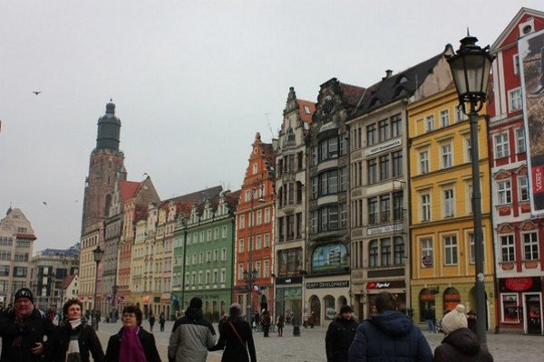 Poľské mesto Vroclav.