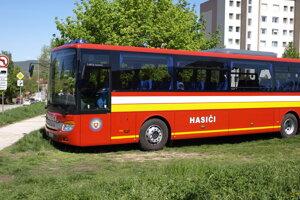 Evakuačný autobus.