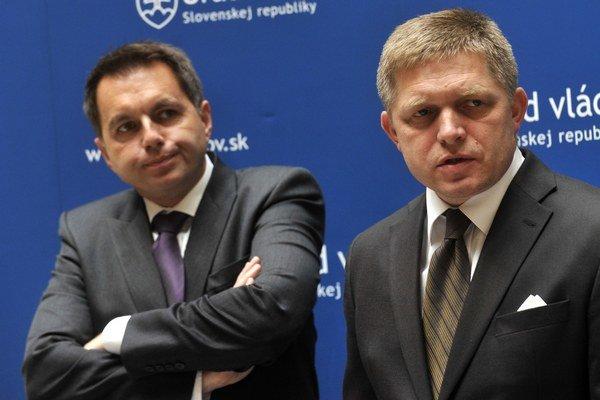 Minister Kažimír a premiér Fico.