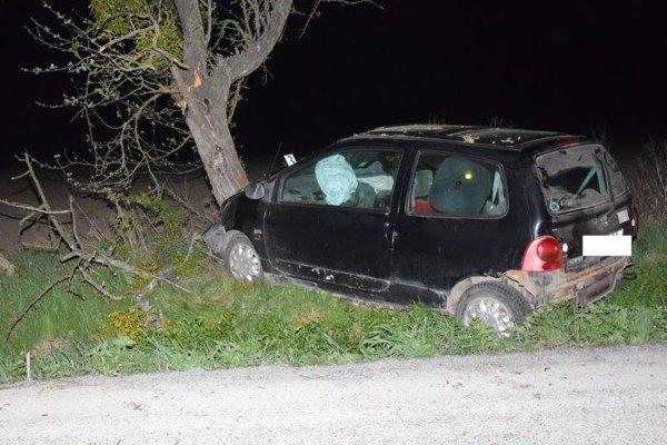Renault Twingo šoféroval iba 17-ročný Tomáš. Mal vypité.