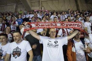 Fanúšikovia Banskej Bystrice počas finále.