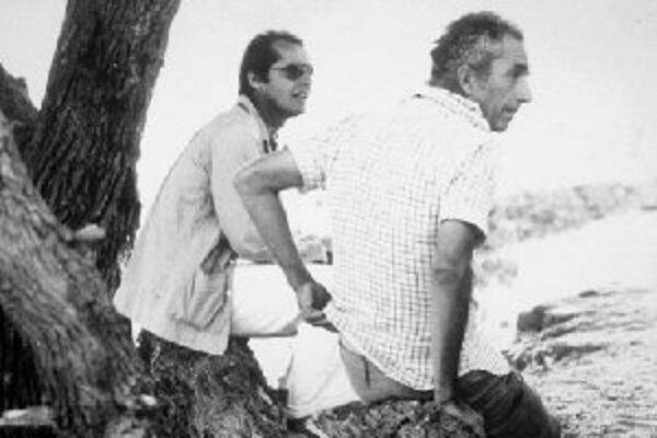 Michelangelo Antonioni s Jackom Nicholsonom v roku 1975 v Los Angeles.