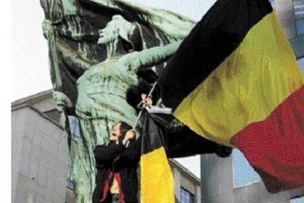 Rozkvitnuté belgické zástavy.