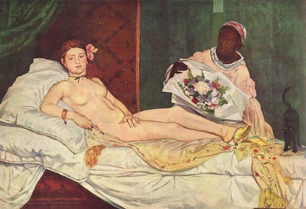 Olympia od Eduarda Maneta má na nohách