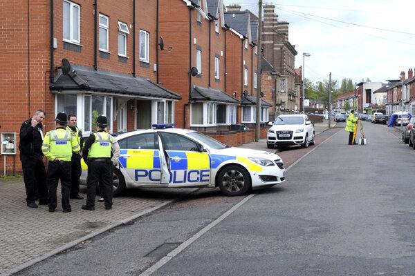Mešita v Birminghame, kde auto zrazilo dvoch ľudí.
