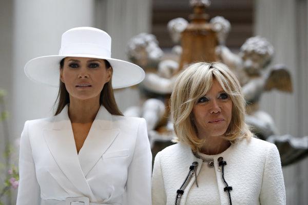 Prvé dámy USA a Francúzska.