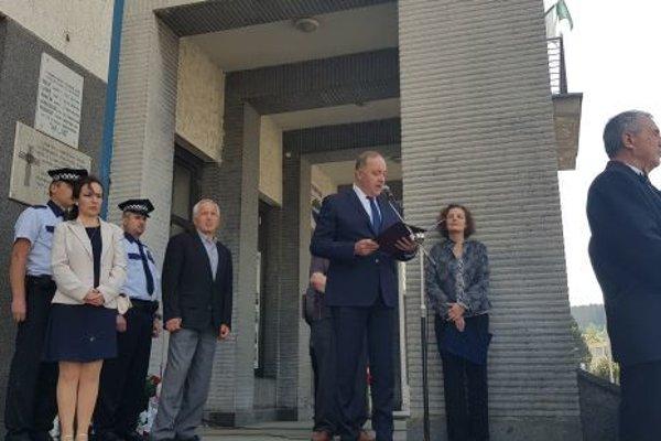 K prítomným sa prihovoril aj primátor mesta Milan Gura.