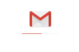 Nový Gmail a načítavacia obrazovka.