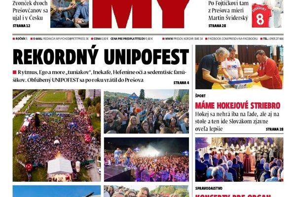 Najnovšie číslo Prešovských novín.