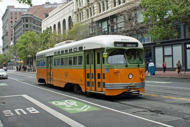 Električka F v San Francisco.
