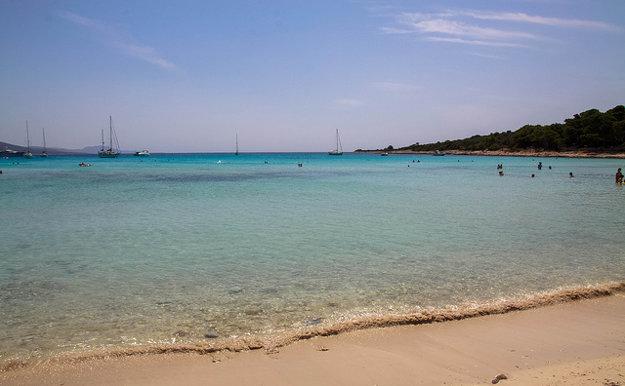 Dugi otok, pláž Sakarun.