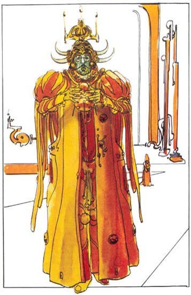 Takto mal vyzerať kostým cisára galaxie, ktorého by hral Salvador Dalí.