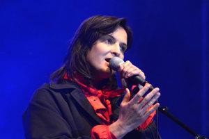 Jana Kirschner na koncerte v Gregorovciach.