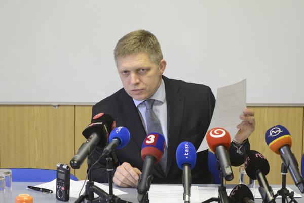 Premiér Robert Fico ukázal v Košiciach nové dokumenty.