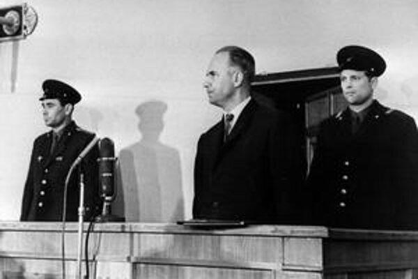 Oleg Peňkovskij na súde.