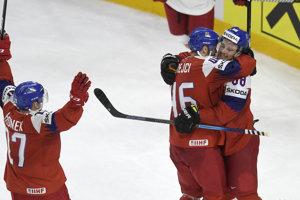 Českí hokejisti, ilustračná snímka.