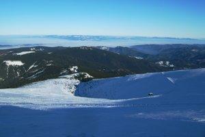 Pohľad na severovýchod - Levočské vrchy, Čergov, Branisko.