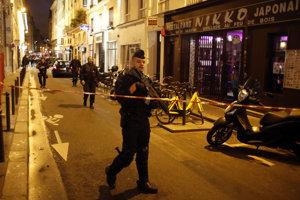 Polícia na mieste incidentu.
