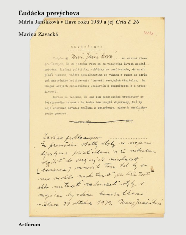 Ľudácka prevýchova, Mária Janšáková v Ilave roku 1939 a jej cela č. 20