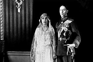 Alžbeta, kráľovná matka, mala svadbu v apríli 1923. Jej manželom bol princ Albert z Yorku.